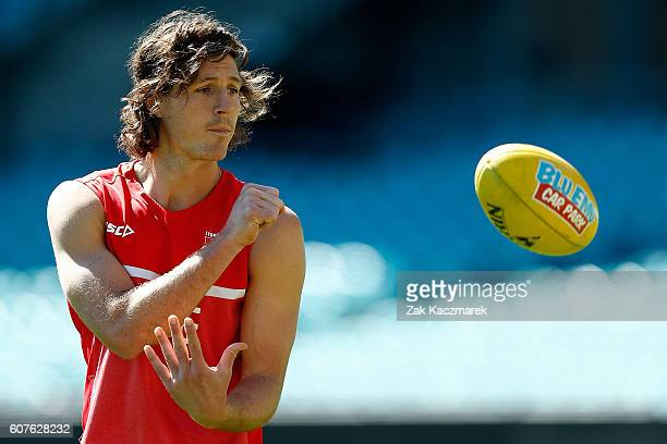 Kurt Tippet of the Swans during a Sydney Swans AFL training session at Sydney Cricket Ground on September 19 2016 in Sydney Australia