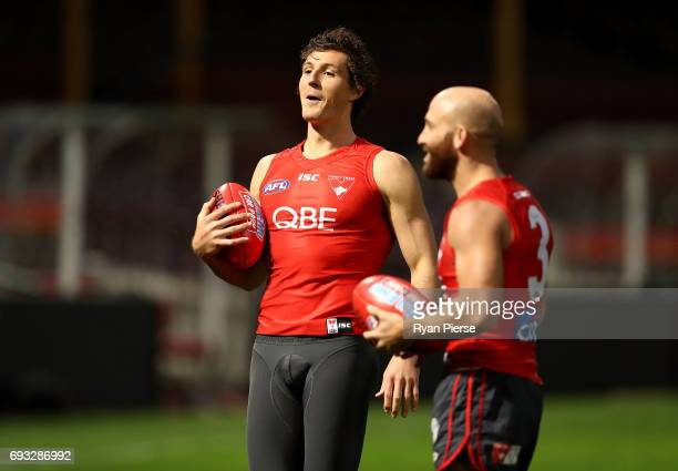 Kurt Tippett of the Swans look on during a Sydney Swans AFL media session at the Sydney Cricket Ground on June 6 2017 in Sydney Australia