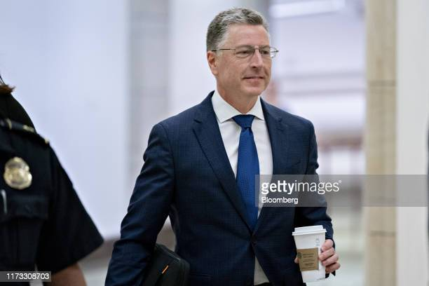 Kurt Volker former special envoy to the Ukraine arrives for a closeddoor deposition before House committees on Capitol Hill in Washington DC US on...