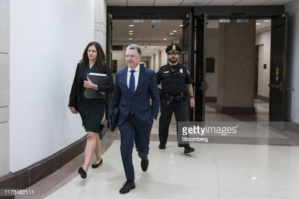 Kurt Volker former special envoy to the Ukraine center exits after a closeddoor deposition before House committees on Capitol Hill in Washington DC...