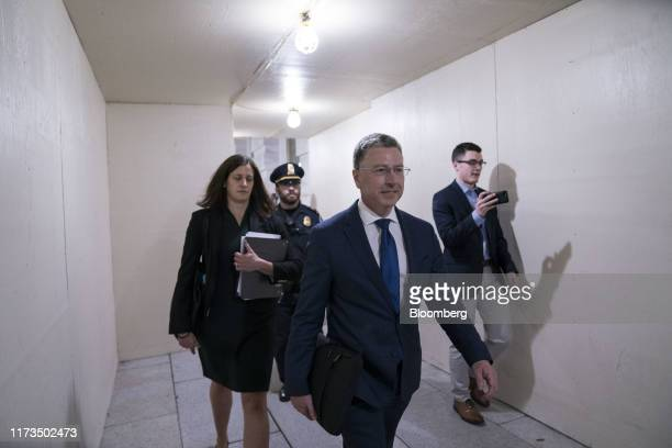 Kurt Volker former special envoy to the Ukraine exits after a closeddoor deposition before House committees on Capitol Hill in Washington DC US on...