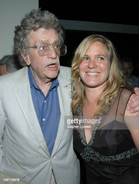 """Kurt Vonnegut and Director Ivy Meeropol during HBO Documentary Films Presents a Special Screening of """"Heir To An Execution - A Granddaughter's Story""""..."""