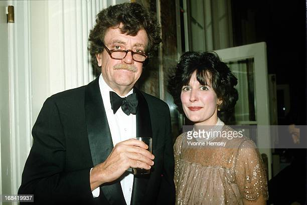 Kurt Vonnegut and his wife Jill Krementz are photographed at Roone Arledge's birthday party March 9, 1983 in New York City.
