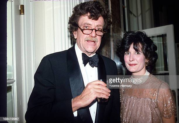 Kurt Vonnegut and his wife Jill Krementz are photographed at Roone Arledge's birthday party March 9 1983 in New York City