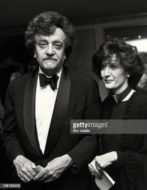 Kurt Vonnegut and Jill Krementz during 1st Annual Guild Hall Awards Dinner at St. Regis Hotel in New York City, New York, United States.