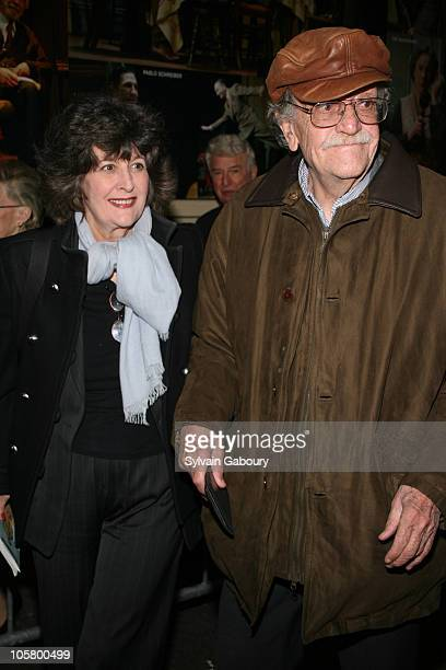 """Kurt Vonnegut and wife Jill Krementz during Opening Night of Broadway's """"Awake and Sing"""" - Arrivals at Belasco Theater in New York, NY, United States."""
