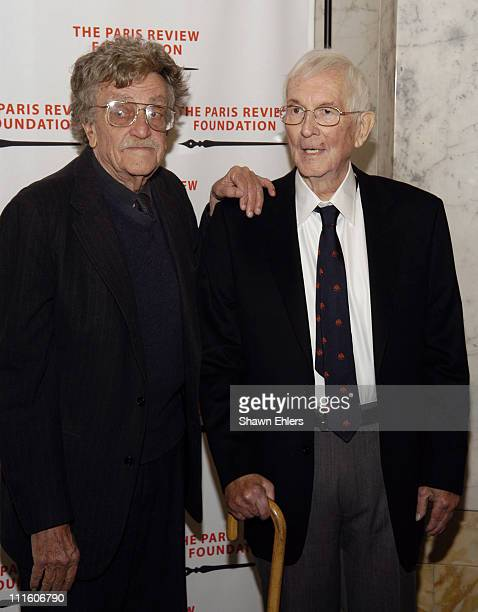 Kurt Vonnegut and William Styron during The Paris Review Foundation Presents Fall Revel Honoring William Styron at Cipriani at 200 Fifth Avenue in...