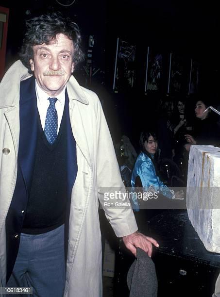 Kurt Vonnegut during Kurt Vonnegut, Jr. Sighting at The Cat Club - January 16, 1986 at Cat Club in New York City, New York, United States.