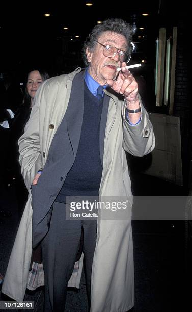 Kurt Vonnegut during Memorial Service for Alan J Pakula February 4 1999 at Broadhurst Theater in New York City New York United States