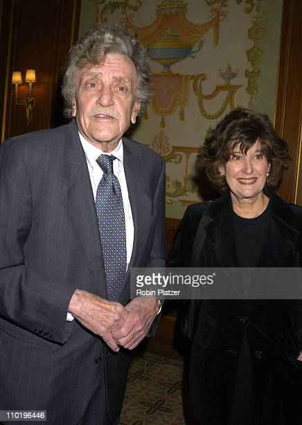 Kurt Vonnegut Jr. And wife Jill Krementz during The 56th Annual Writers Guild of America Awards, East - Arrivals at The Pierre Hotel in New York...