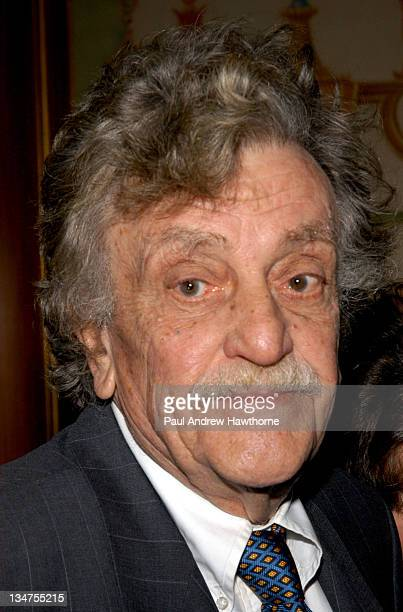 Kurt Vonnegut, Jr. During 2004 Writers Guild of America, East Awards - Arrivals at Pierre Hotel in New York City, New York, United States.