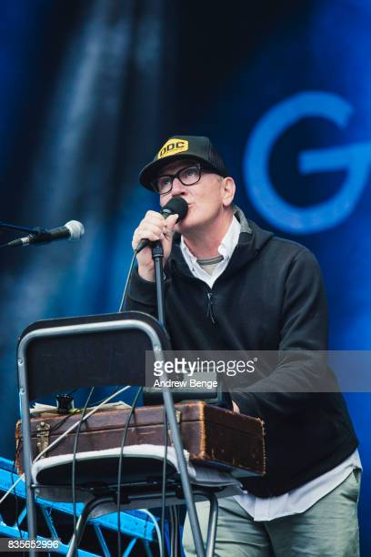 Kurt Wagner of Lambchop performs on the Mountain stage during day 3 at Green Man Festival at Brecon Beacons on August 19, 2017 in Brecon, Wales.