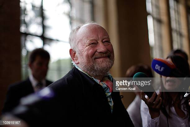 Kurt Westergaard smiles prior the M110 Media Award ceremony at Sanssouci Palace on September 8 2010 in Potsdam Germany The M100 Media Prize will be...