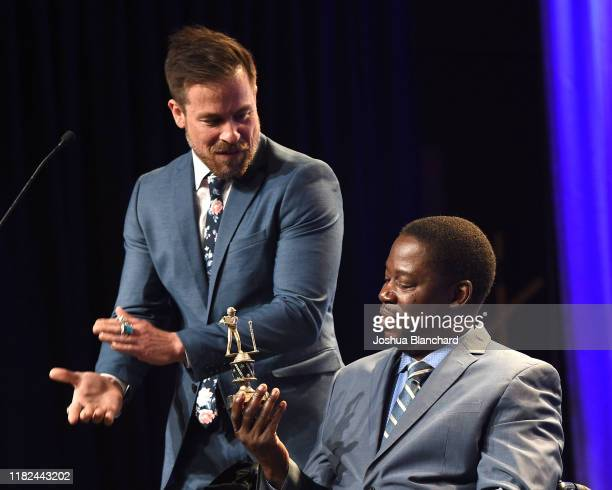 Kurt Yaeger and Daryl Mitchell attend the 40th Annual Media Access Awards In Partnership With Easterseals at The Beverly Hilton Hotel on November 14...