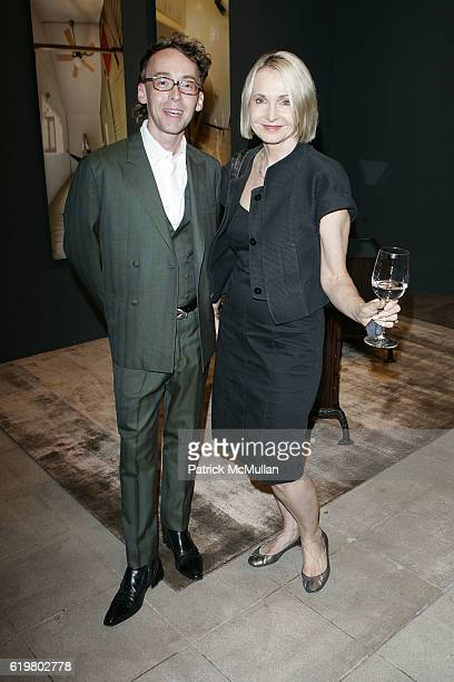 Kurt Zimmerer and Marcella Ruble attend KATHY TASLITZ VIP Reception with LACMA Council Guests at LIMN at LIMN on October 23 2008 in Los Angeles CA
