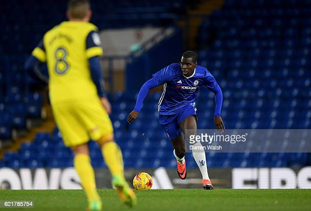 Kurt Zouma of Chelsea during a Checkatrade Trophy match between Chelsea and Oxford United at Stamford Bridge on November 8 2016 in London England