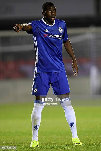 Kurt Zouma of Chelsea during a Premier League 2 match between Chelsea and Derby County at The EBB Stadium on October 24 2016 in Aldershot England