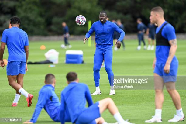 Kurt Zouma of Chelsea during a training session at Chelsea Training Ground on August 6 2020 in Cobham England