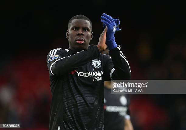 Kurt Zouma of Chelsea during the Barclays Premier League match between Crystal Palace and Chelsea at Selhurst Park on January 3 2016 in London England