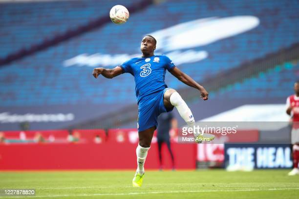 Kurt Zouma of Chelsea during the FA Cup Final match between Arsenal and Chelsea at Wembley Stadium on August 1 2020 in London England Football...
