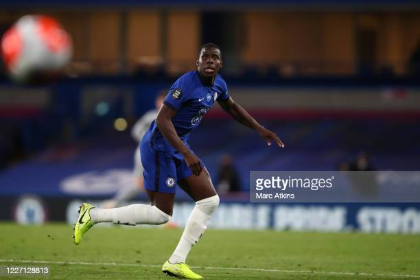 Kurt Zouma of Chelsea during the Premier League match between Chelsea FC and Norwich City at Stamford Bridge on July 14 2020 in London United Kingdom...