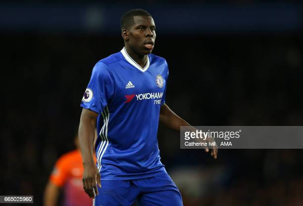 Kurt Zouma of Chelsea during the Premier League match between Chelsea and Manchester City at Stamford Bridge on April 5 2017 in London England