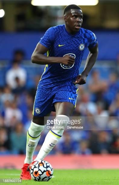 Kurt Zouma of Chelsea FC during the Pre Season Friendly between Chelsea and Tottenham Hotspur at Stamford Bridge on August 04, 2021 in London,...