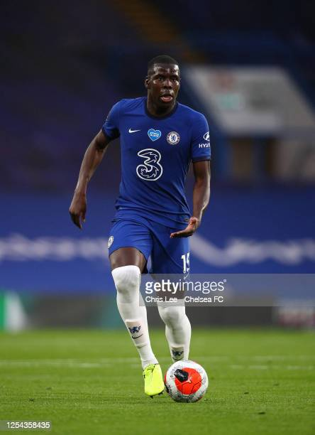 Kurt Zouma of Chelsea in action during the Premier League match between Chelsea FC and Watford FC at Stamford Bridge on July 04 2020 in London...