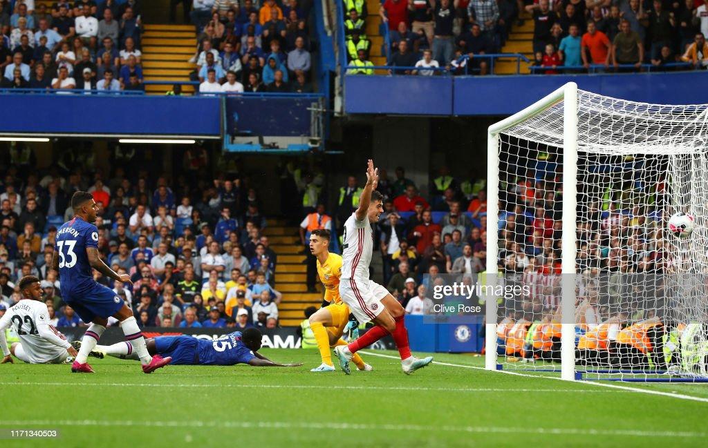 Chelsea FC v Sheffield United - Premier League : Nachrichtenfoto
