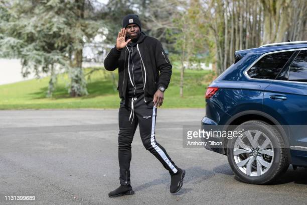 Kurt Zouma of France arrives at on March 18 2019 in ClairefontaineenYvelines France