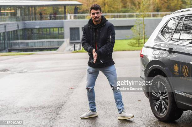 Kurt Zouma of France arrives at the National Football Centre as part of the preparation to UEFA Euro 2020 on November 11 2019 in Clairefontaine...