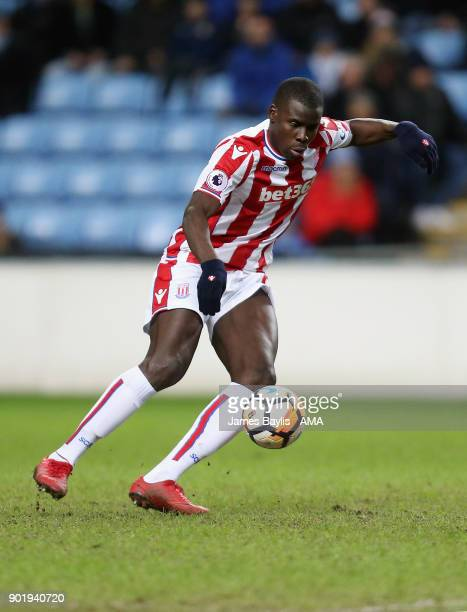 Kurt Zouma of Stoke City during The Emirates FA Cup Third match between Coventry City and Stoke City at Ricoh Arena on January 6 2018 in Coventry...