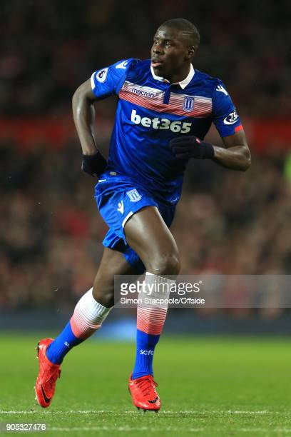 Kurt Zouma of Stoke City during the Premier League match between Manchester United and Stoke City at Old Trafford on January 15 2018 in Manchester...