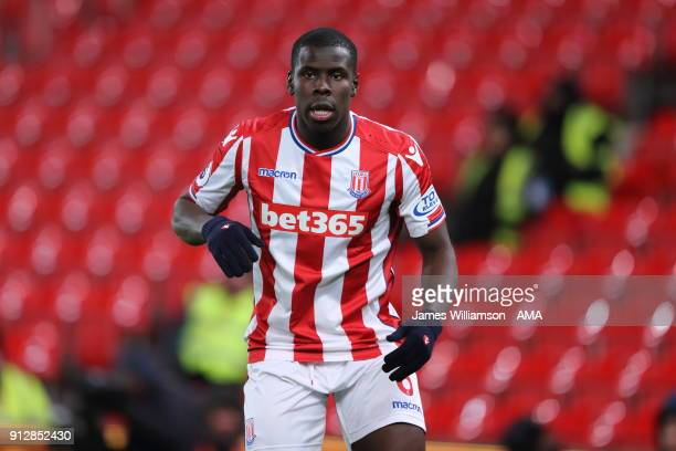 Kurt Zouma of Stoke City during the Premier League match between Stoke City and Watford at Bet365 Stadium on January 31 2018 in Stoke on Trent England