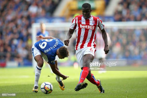 Kurt Zouma of Stoke City in action during the Premier League match between Everton and Stoke City at Goodison Park on August 12 2017 in Liverpool...