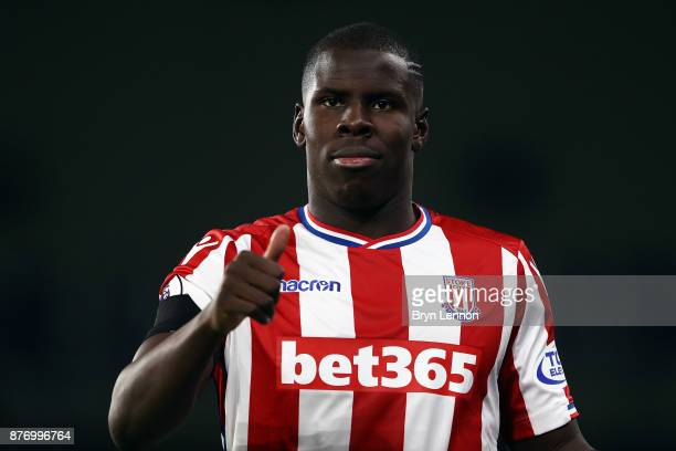 Kurt Zouma of Stoke City looks on during the Premier League match between Brighton and Hove Albion and Stoke City at Amex Stadium on November 20 2017...