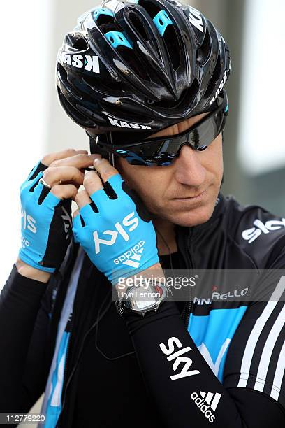 KurtAsle Arvesen of Norway and SKY Procycling prepares for a training ride during a SKY Procycling team training camp in Puerto Alcudia on January 19...