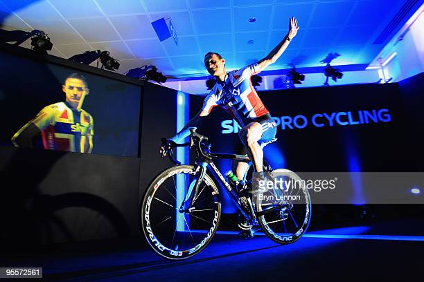 KurtAsle Arvesen of Norway attends the Team Sky Launch at Millbank Tower on January 4 2010 in London England