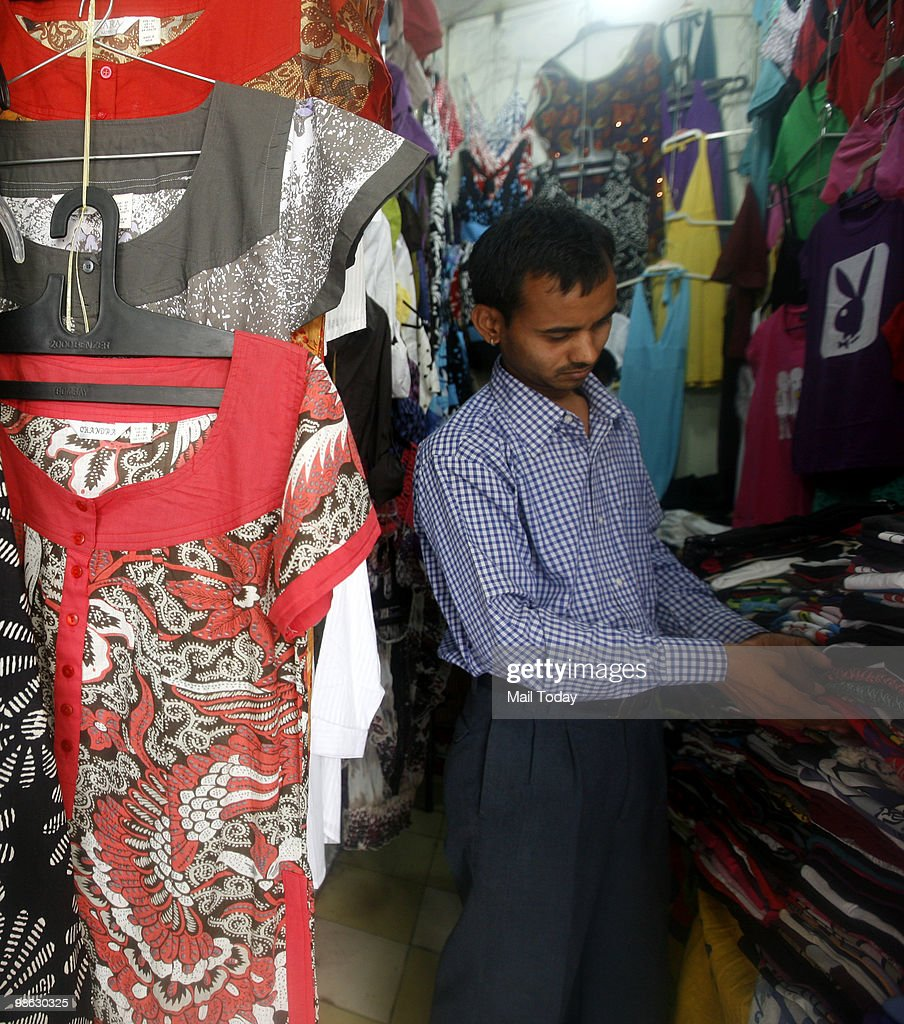 Kurtis are displayed at a famous kurti shop at the GK-1 market in New Delhi on April 19, 2010.