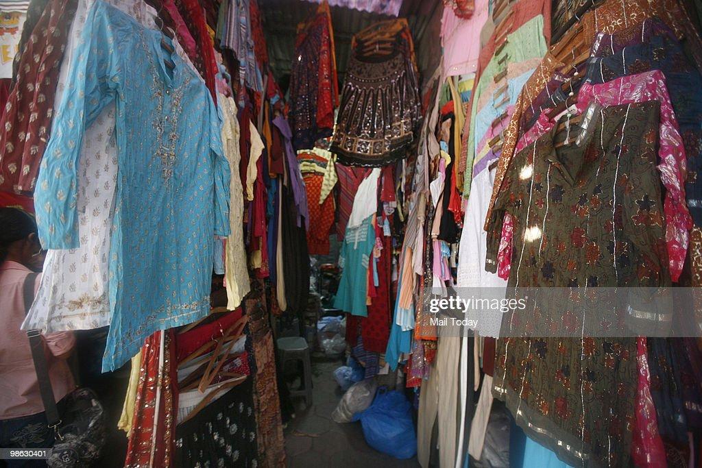 A view of the Janpath Stalls In Delhi : Nieuwsfoto's