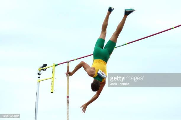Kurtis Marschall of Australia competes in the Men's Pole Vault during Nitro Athletics at Lakeside Stadium on February 4 2017 in Melbourne Australia