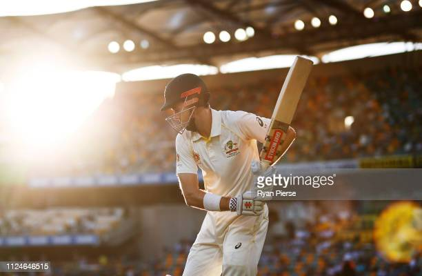 Kurtis Patterson of Australia walks out to bat during day two of the First Test match between Australia and Sri Lanka at The Gabba on January 25,...