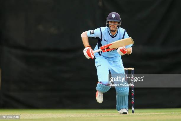 Kurtis Patterson of NSW bats during the JLT One Day Cup match between New South Wales and Victoria at North Sydney Oval on October 15 2017 in Sydney...