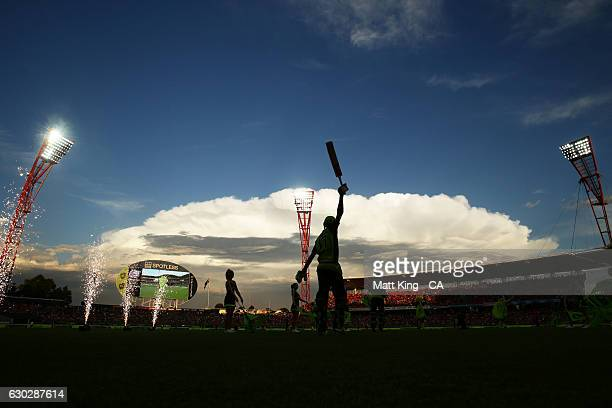 Kurtis Patterson of the Thunder walks onto the field to bat during the Big Bash League match between the Sydney Thunder and the Sydney Sixers at...