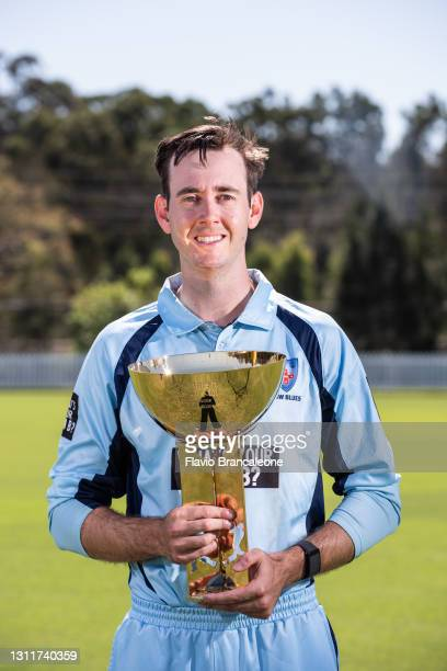 Kurtis Patterson poses during the Marsh One Day Cup Final Media Opportunity at Blacktown International Sportspark on April 10, 2021 in Sydney,...