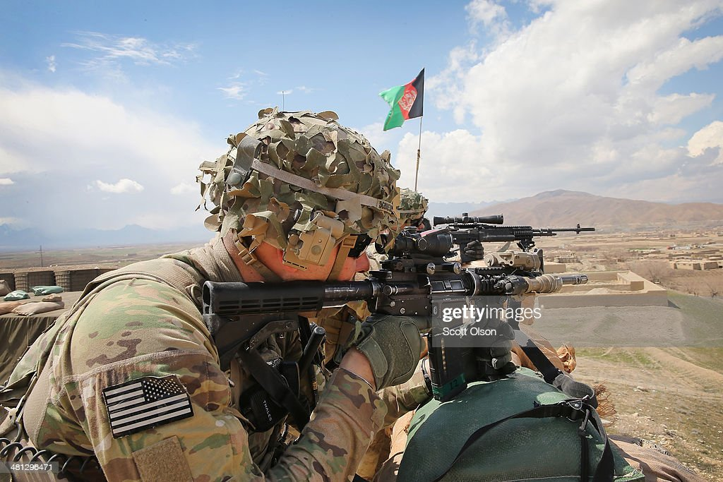 US Troops Patrol Village In Afghanistan's Logar Province : News Photo