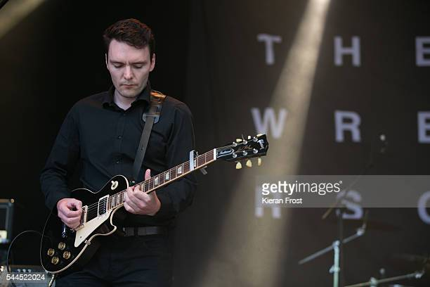 Kurtis Starkie of The Slow Readers Club performs at CastlePalooza at Charville Castle on July 2, 2016 in Tullamore, Ireland.