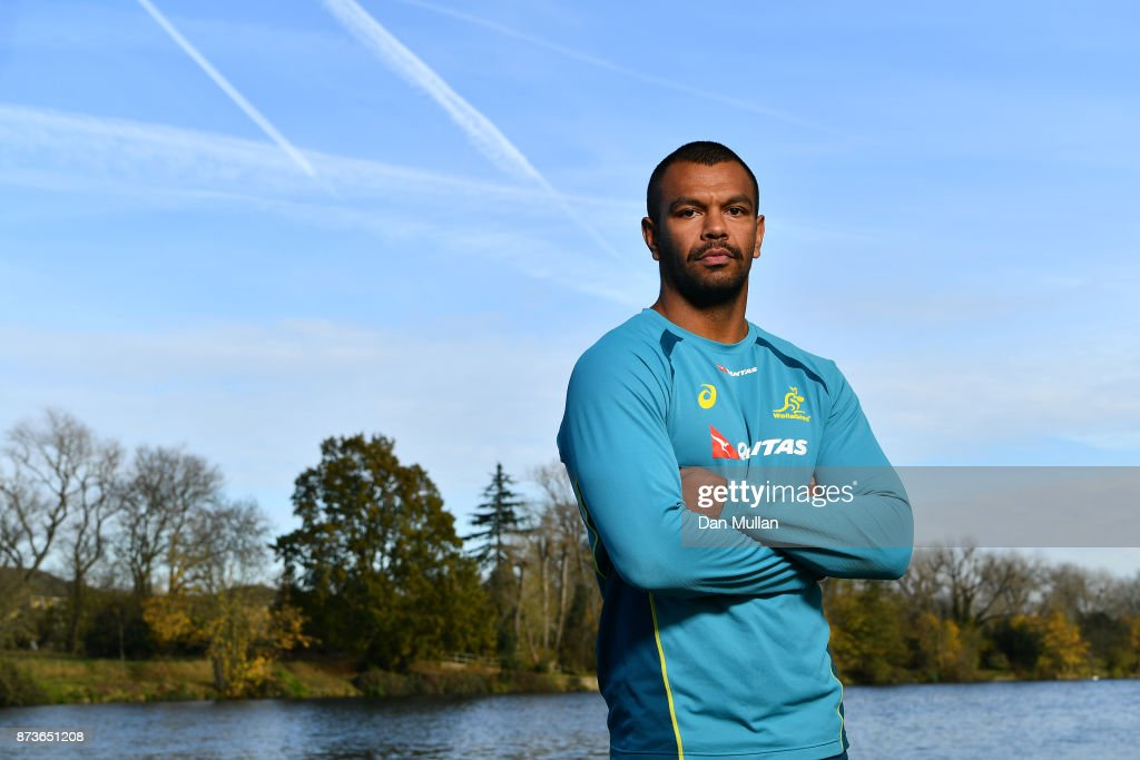 Kurtley Beale of Australia poses for a portrait prior to a training session at the Lensbury Hotel on November 13, 2017 in London, England.