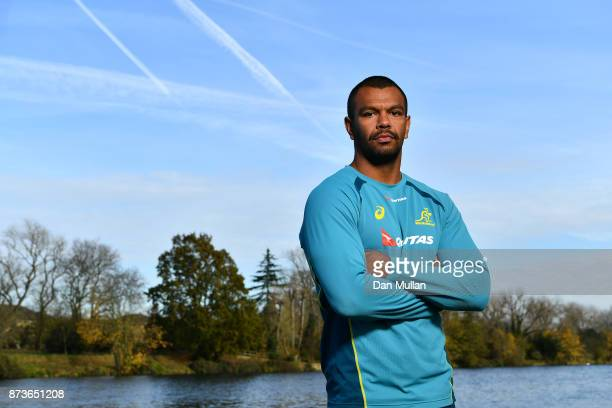 Kurtley Beale of Australia poses for a portrait prior to a training session at the Lensbury Hotel on November 13 2017 in London England
