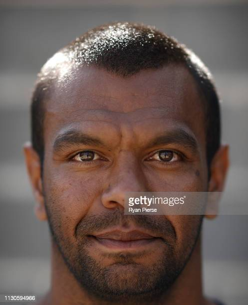 Kurtley Beale of the Waratahs poses before the Waratahs Training Session at David Philips Sport Complex on February 19 2019 in Sydney Australia
